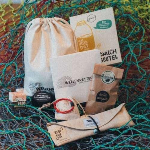 Bracenet Red Sea größenverstellbarWellenretter*in Beutel gaia hello simple birkenspanner marie & anne stadtgaertner plastic fischer