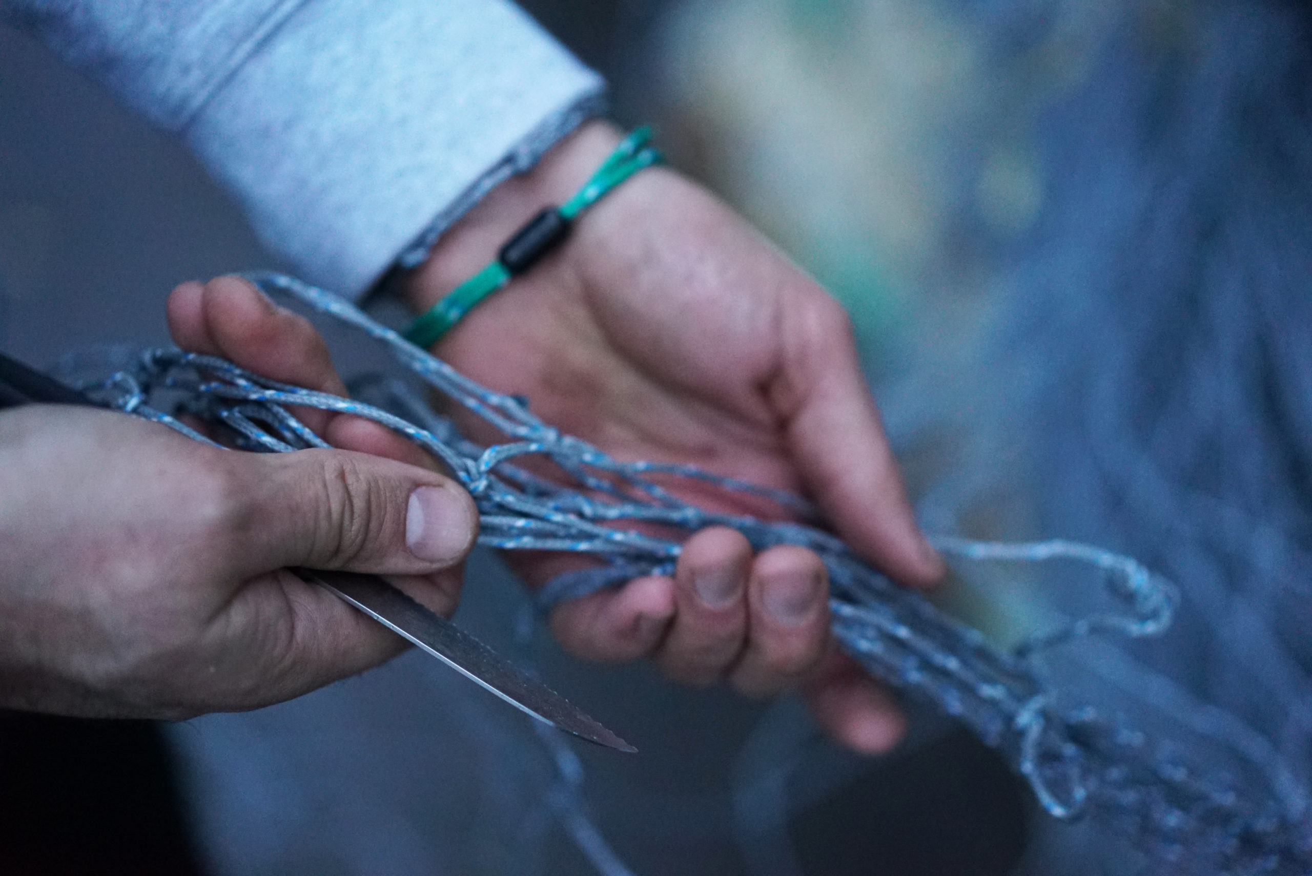 bracenet bracelets handmade of ghost nets
