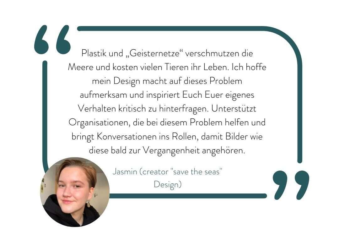 Jasmin Quote über Geisternetz Design