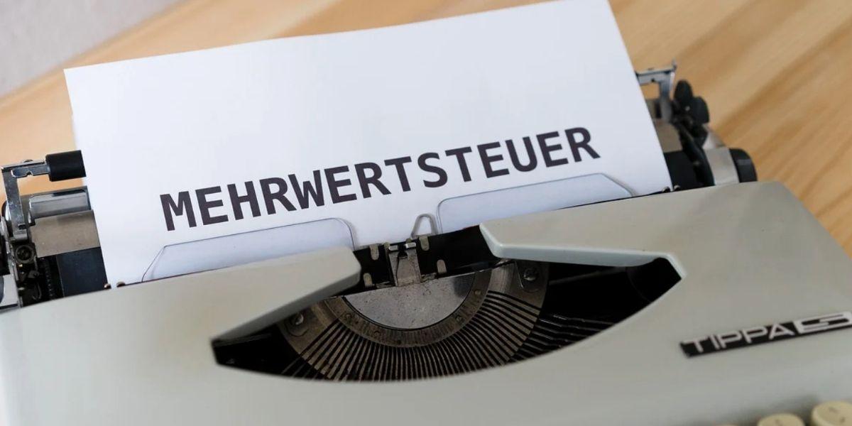 Mehrwertsteuer Schreibmaschine senkung