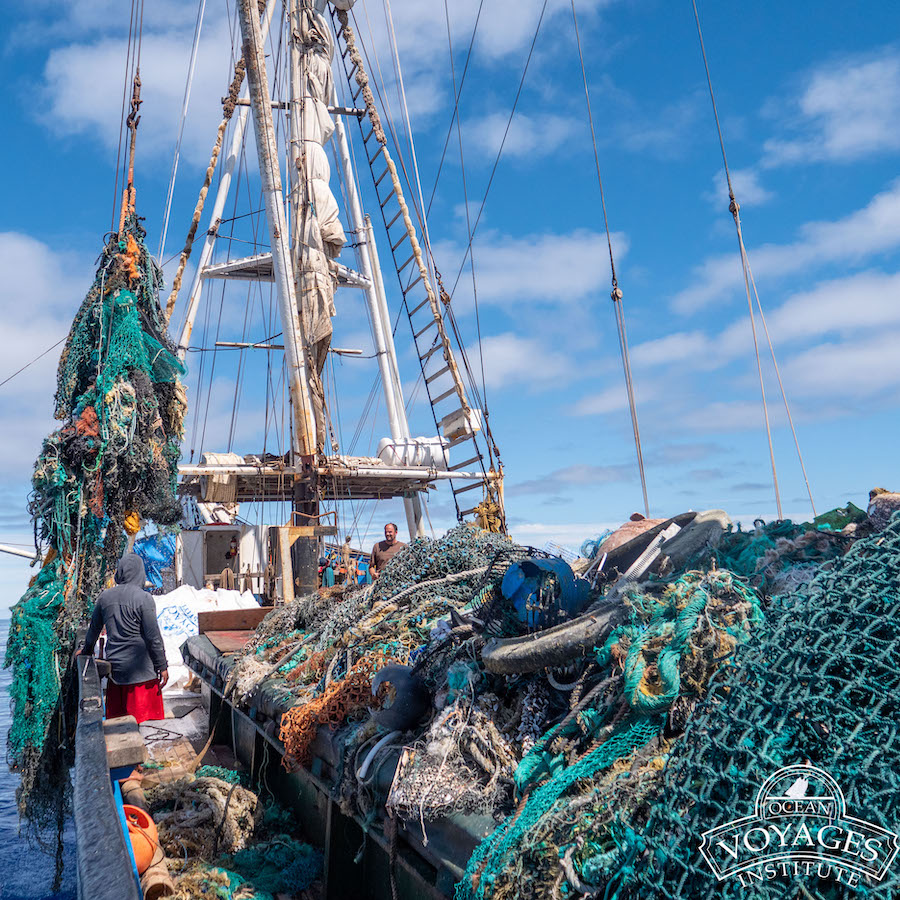 Geisternetze Great Pacific Garbage Patch Clean up