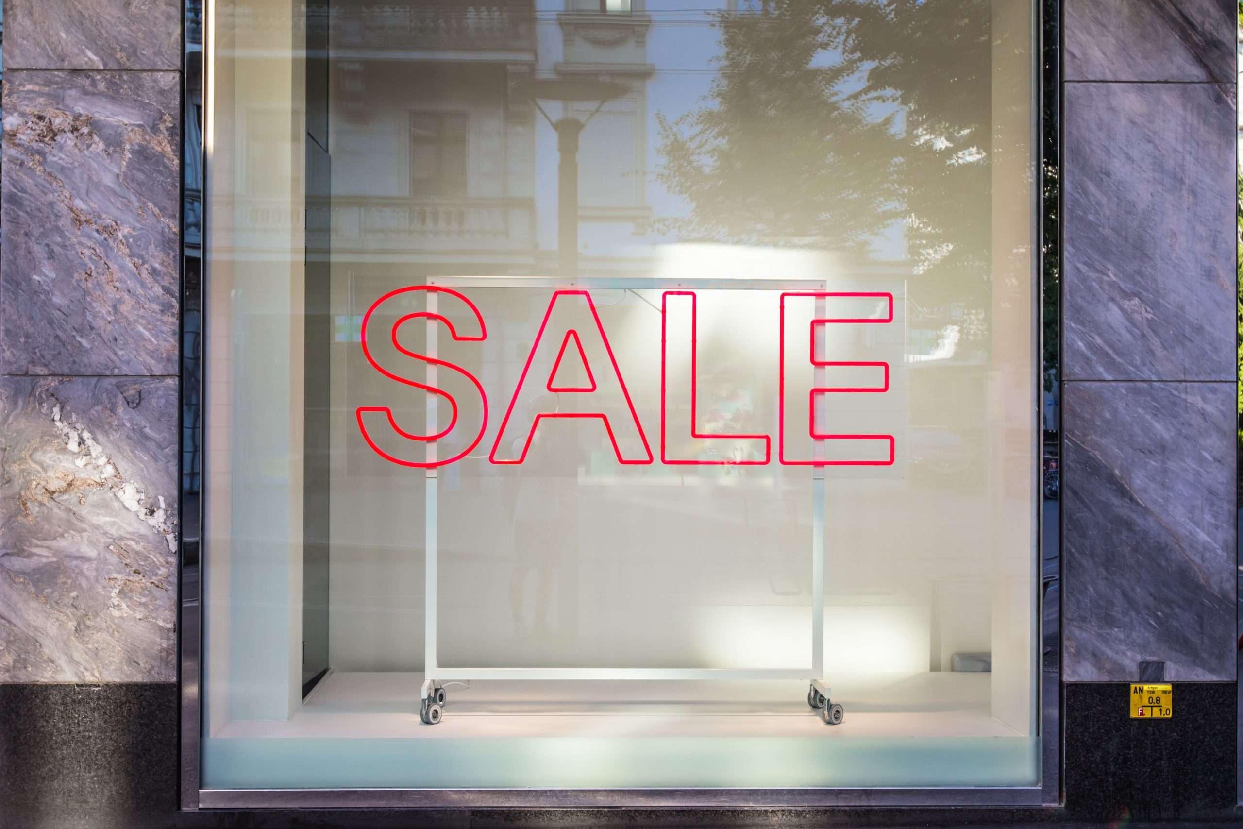Black Friday Sale Schaufenster